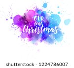 our first christmas  ... | Shutterstock .eps vector #1224786007