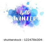 hello winter   handwritten... | Shutterstock .eps vector #1224786304
