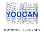 slogan tshirt graphic for wear. ... | Shutterstock .eps vector #1224797341