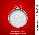 abstract xmas greeting card... | Shutterstock . vector #122480311