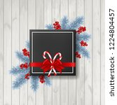christmas background with fir... | Shutterstock .eps vector #1224804457
