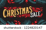 christmas sale flyer with... | Shutterstock .eps vector #1224820147