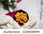swedish christmas. gluten free...   Shutterstock . vector #1224828094