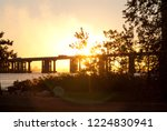 an amazing sunset mixed with... | Shutterstock . vector #1224830941