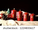 second sunday  week  of advent  ...   Shutterstock . vector #1224833617