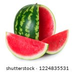 fresh watermelon isolated on... | Shutterstock . vector #1224835531