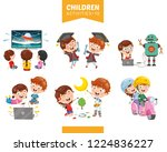 vector illustration of children ... | Shutterstock .eps vector #1224836227