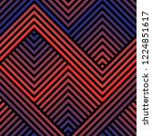 vector geometric seamless... | Shutterstock .eps vector #1224851617