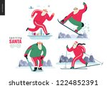 sporting santa   winter otdoor... | Shutterstock .eps vector #1224852391