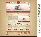 bistro and cafe website design...   Shutterstock .eps vector #122485669