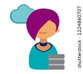 cartoon vector icon of computer ... | Shutterstock .eps vector #1224860707