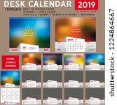 desk calendar 2019. desktop... | Shutterstock .eps vector #1224864667