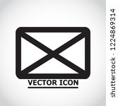 vector icon mail 10 eps | Shutterstock .eps vector #1224869314