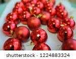 Closeup Photo Of Red Christmas...