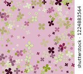 pastel violet background with... | Shutterstock .eps vector #1224883564