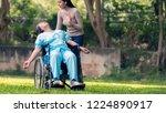 daughter shocked whem... | Shutterstock . vector #1224890917