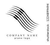 music piano logo template... | Shutterstock .eps vector #1224899494