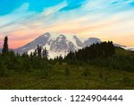 south face and glaciers of mt.... | Shutterstock . vector #1224904444