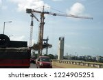 construction of new cantilever... | Shutterstock . vector #1224905251