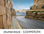 road through medieval... | Shutterstock . vector #1224905254