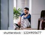 portrait of a young and... | Shutterstock . vector #1224905677