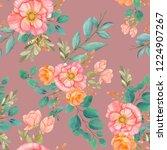 seamless watercolor background... | Shutterstock . vector #1224907267