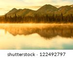 Serenity Lake In Tundra On...
