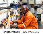 african marine engineer officer ... | Shutterstock . vector #1224938617