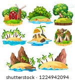 set of isolated island... | Shutterstock .eps vector #1224942094