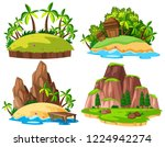 set of isolated island... | Shutterstock .eps vector #1224942274