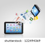 modern communication technology ... | Shutterstock . vector #122494369
