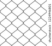 chain link fence wire vector | Shutterstock .eps vector #1224946801