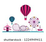 fun fair carnival | Shutterstock .eps vector #1224949411