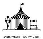 fun fair carnival | Shutterstock .eps vector #1224949501
