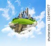 little fine island   planet. a... | Shutterstock . vector #122495377