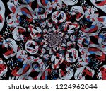 a hand drawing pattern made of... | Shutterstock . vector #1224962044