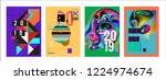 2019 new abstract poster... | Shutterstock .eps vector #1224974674