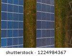 aerial view solar panels  solar ...   Shutterstock . vector #1224984367