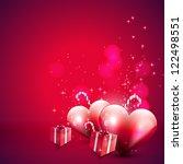 valentine's day pink background | Shutterstock .eps vector #122498551