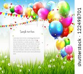 colorful birthday background... | Shutterstock .eps vector #122498701