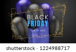 black friday  sale abstract... | Shutterstock .eps vector #1224988717