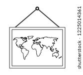 school board with atlas   Shutterstock .eps vector #1225014361
