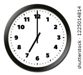 round clock face showing seven... | Shutterstock . vector #1225014814
