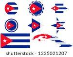 cuba flag  as well as various...   Shutterstock .eps vector #1225021207