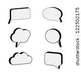 3d speech bubbles | Shutterstock .eps vector #122502175