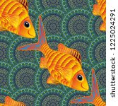 stylized cute color fish for... | Shutterstock . vector #1225024291