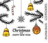 new year. christmas. hand... | Shutterstock .eps vector #1225026001