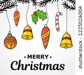new year. christmas. hand... | Shutterstock .eps vector #1225026004