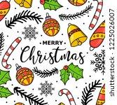 new year. christmas. hand... | Shutterstock .eps vector #1225026007
