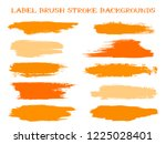 minimal label brush stroke... | Shutterstock .eps vector #1225028401